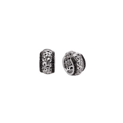 SILVER IVY HUGGIE EARRINGS