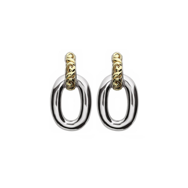 Silver Ivy Smooth Link Drop Earring