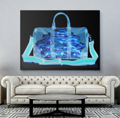 X-RAY Money Bag Success Canvas Print BoringWalls