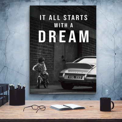 It all starts with a DREAM Success Canvas Print BoringWalls
