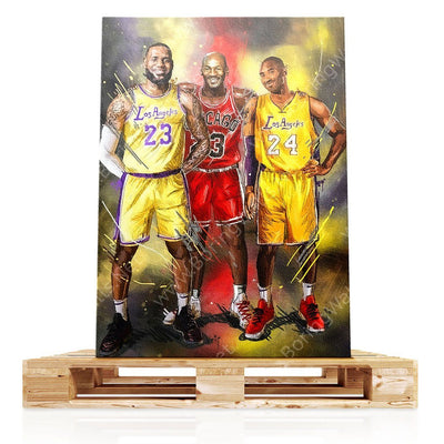 Basketball ICONS Canvas Print BoringWalls
