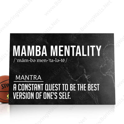 Mamba Mentality Definition Canvas Print BoringWalls
