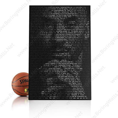 Kobe's Quotes Portrait Canvas Print BoringWalls