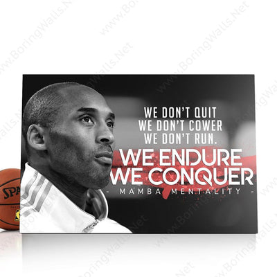We Don't Quit - We Conquer Canvas Print BoringWalls