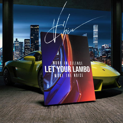Let Your Lambo Make the Noise Canvas Print BoringWalls