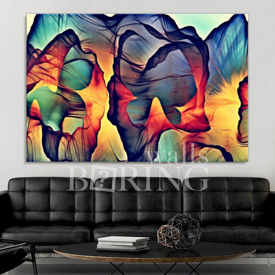 Colorful Tender Art Print Canvas Print BoringWalls
