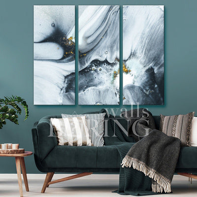 Black and Grey Modern Trendy Wall Art Canvas Print BoringWalls