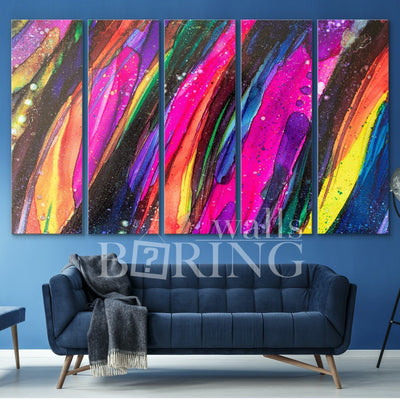 Contemporary Abstract Wall Art Canvas Print BoringWalls