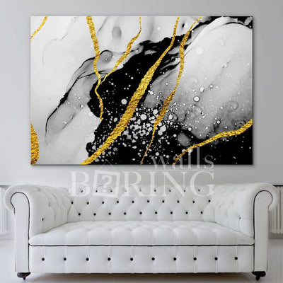 Luxury Abstract Painting Print Canvas Print BoringWalls