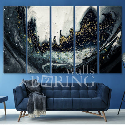 Black and White Luxe Wall Art Canvas Print BoringWalls