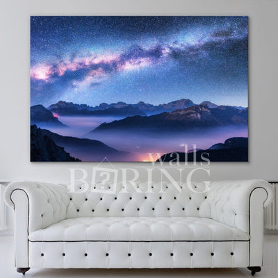 Milky Way Abstract Galaxy Canvas Print BoringWalls