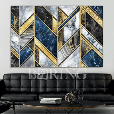 Luxurious Geometric Wall Art Canvas Print BoringWalls