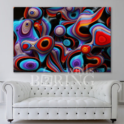 Abstract Pattern Colorful Tender Art Canvas Print BoringWalls