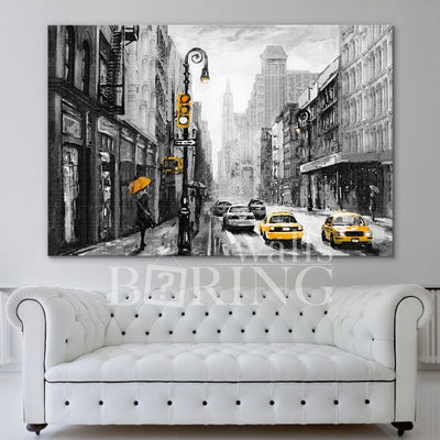 Modern Artwork illustration New York Canvas Print BoringWalls