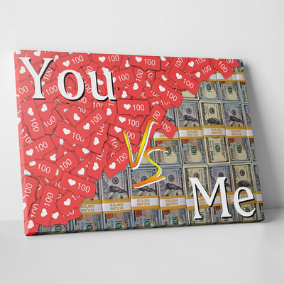 You VS Me Canvas Print BoringWalls