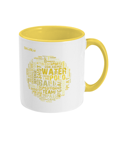 SHOALO Water Polo Word Cloud - Two Toned Mug