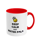 SHOALO Keep Calm and Play Water Polo -Two Toned Mug - Various Colours