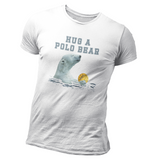 SHOALO Hug A Polo Bear - T-Shirt / Tee - white - invisible