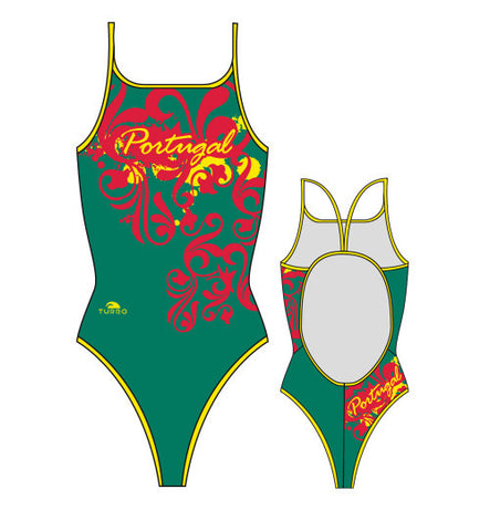 TURBO - 8300352-0508 - Thin Strap Womens Swimsuit / Swimwear / Costume - Swimming