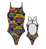 TURBO - 8300732-0099 - Thin Strap Womens Swimsuit / Swimwear / Costume - Swimming