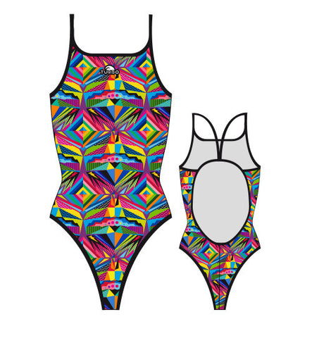 TURBO - 8300872-0099 - Thin Strap Womens Swimsuit / Swimwear / Costume - Swimming