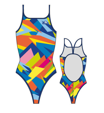 TURBO - 8300882-0099 - Thin Strap Womens Swimsuit / Swimwear / Costume - Swimming