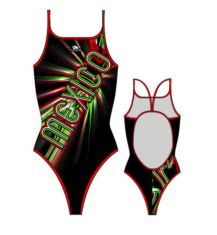TURBO - 892312-0099 - Thin Strap Womens Swimsuit / Swimwear / Costume - Swimming