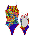 TURBO - 896102-0006 - Thin Strap Womens Swimsuit / Swimwear / Costume - Swimming