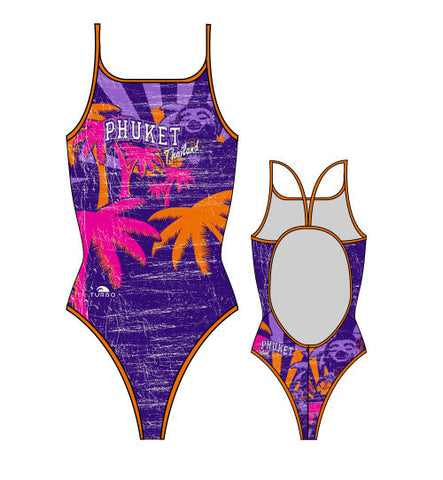 TURBO - 896512-0099 - Thin Strap Womens Swimsuit / Swimwear / Costume - Swimming