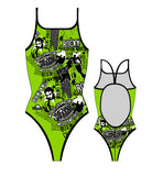 TURBO - 898562-0509 - Thin Strap Womens Swimsuit / Swimwear / Costume - Swimming