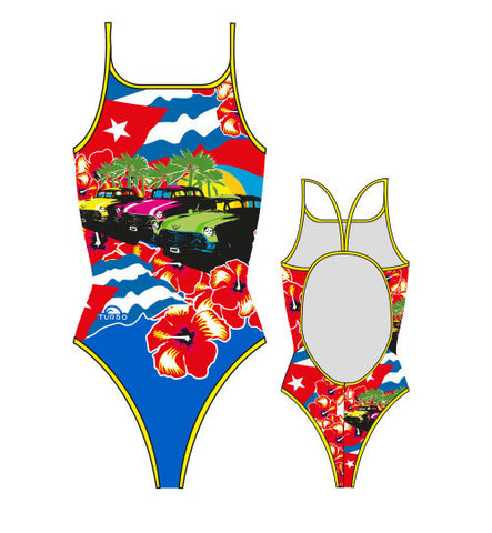 TURBO - 899182-0099 - Thin Strap Womens Swimsuit / Swimwear / Costume - Swimming