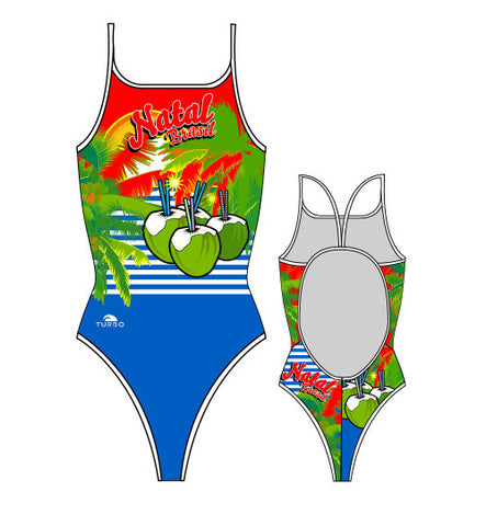 TURBO - 899212-0099 - Thin Strap Womens Swimsuit / Swimwear / Costume - Swimming