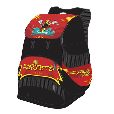 Waterpoloshop - SHOALO Customised - Hinckley Hornets Backpack / Rucksack + NAME