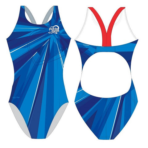 Waterpoloshop - SHOALO Customised - Out to Swim Womens Bladeback Suits
