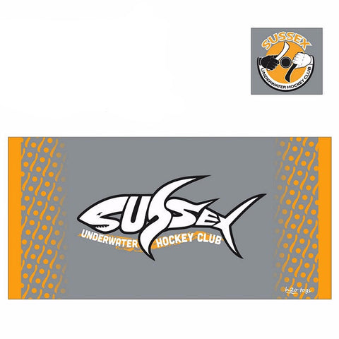Waterpoloshop - H2OTOGS Customised - Sussex UWH Beach Towel (with orange)