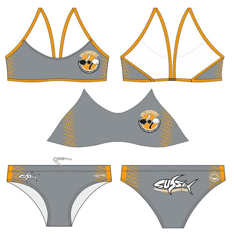 Waterpoloshop - H2OTOGS Customised - Sussex UWH Womens Sports Bikini
