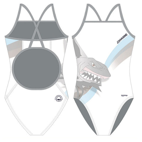 H2OTOGS Customised - Amager UWR Womens Skinback Suits - WHITE