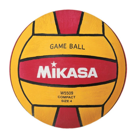MIKASA - Womens Water Polo Ball - W5509 Red Yellow - Size 4