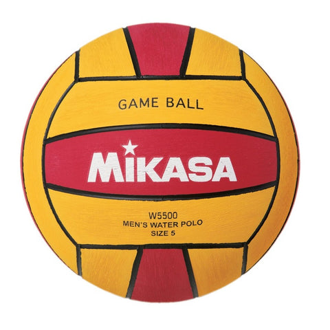 MIKASA - Mens Water Polo Ball - W5500 Red Yellow - Size 5