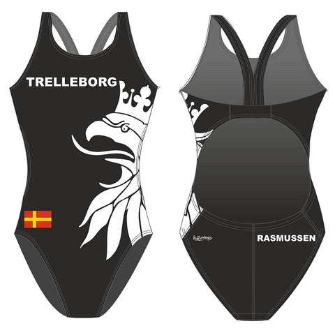 SHOALO Customised - Trelleborg UWR (BLACK) Womens Bladeback Suits + NAME