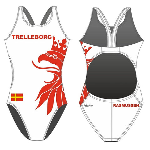 SHOALO Customised - Trelleborg UWR (WHITE) Womens Bladeback Suits + NAME