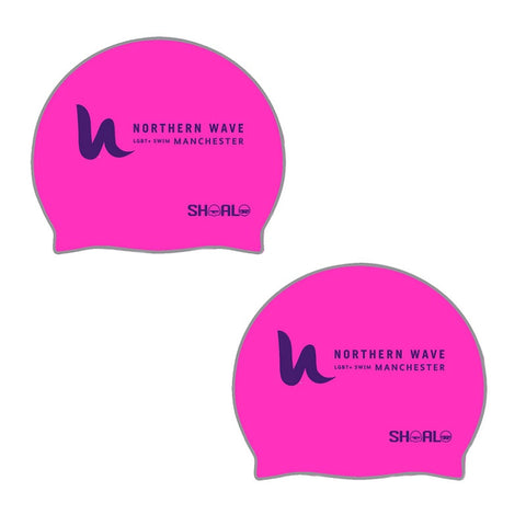 SHOALO Customised - Northern Wave Silicone Swimming Caps / Hats