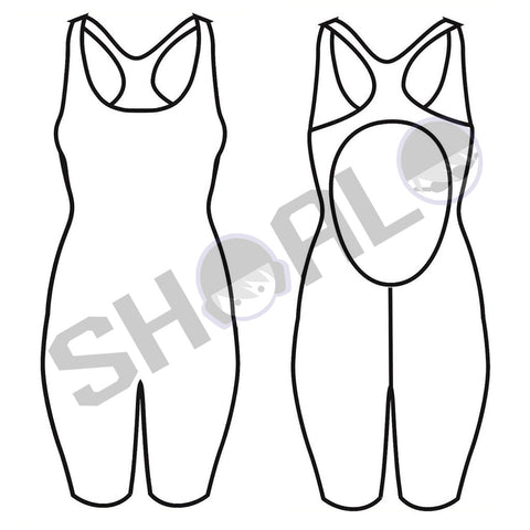 SHOALO Custom Design - Womens Olympicback Kneeskin Suit