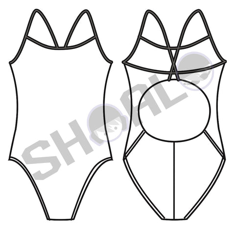 SHOALO Custom Design - Womens W2 Skinback Swimsuit