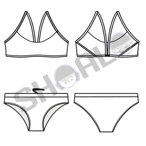 SHOALO Custom Design - Womens SF6 Sports Bikini Swimsuit