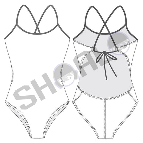 SHOALO Custom Design - Womens W32 Tieback Swimsuit