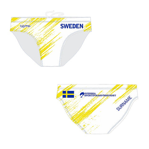 5169d1f71 H2OTOGS Customised - Swedish Diving Mens Water Polo Suits + NAME ...