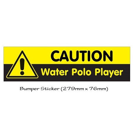 Waterpoloshop - H2OTOGS Water Polo Caution - Sticker