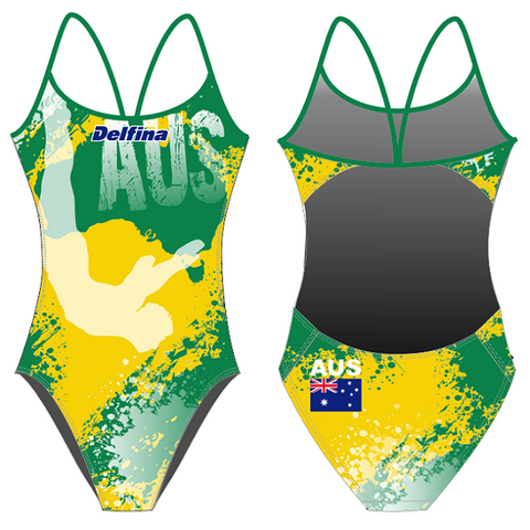 .IN_STK - DELFINA Australia Diving - Womens Openback Suit
