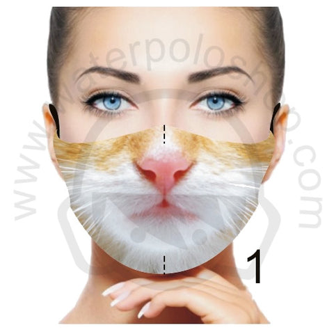 Face Mask - Reusable / Washable Fabric With Filter Pocket (1) - Ginger Cat